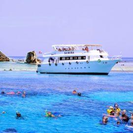 رحلة بحرية باليخت الي جزيرة تيران
